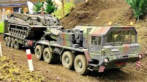 100 Rc Army Trucks AWESOME RC SCALE ARMY MODEL TRUCK FAUN SLT ELEFANT WITH TANK