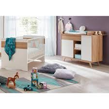 ensemble chambre bébé ensemble chambre bébé 2 pièces avec lit 70x140 cm et commode à