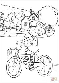Click The Emily Is Riding Her Cycle Coloring Pages