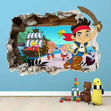 children s pirates wall decals and stickers ebay