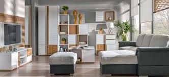 6 tlg modern wohnwand schrankwand anbauwand wohnzimmer komplett set holz neu