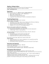 resume description of preschool winning preschool resume template exle featuring