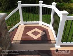 Certainteed Decking Vs Trex by Azek Kona With Azek Brownstone Border And Custom Inlay With White