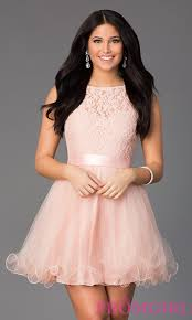 short semi formal a line party dress promgirl