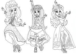 Draculaura And Friends In Dancer Clothes Monster High Coloring Page