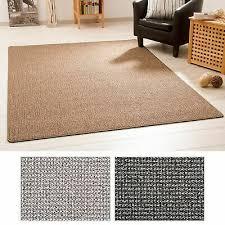 kurzflor teppich meddon melange schlingenteppich esszimmer grau braun anthrazit ebay