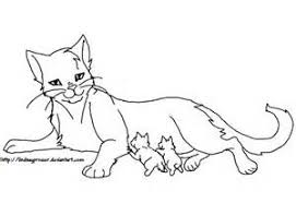 Animal Printable Warrior Cat Coloring Pages Tone