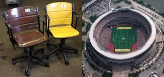 Custom Stadium Chairs For Bleachers by Three Rivers Stadium Seat Conversion To Office Chairs Archer Seating