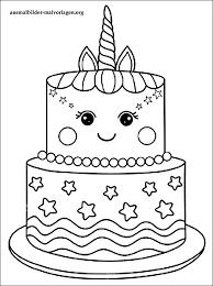 ausmalbilder einhorn kuchen coloring and drawing
