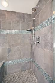 bathroom shower in cool blue tile traditional interesting showers