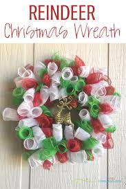Make Our Super Easy Reindeer Deco Mesh Christmas Wreath This Year To Hang On Your Front