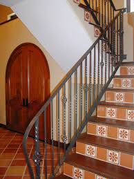 Spanish Tile Shown In Saltillo Terracotta Floor Tile And Talavera ... Banister Definition In Spanish Carkajanscom 32 Best Spanish Colonial Home Design Ideas Images On Pinterest Banisters Meaning Custom Stair Parts Mobile Stunning Curved 29 Staircase For Style Home 432 _ Architecture Decorative Risers With Designs For All Tastes The Diy Smart Saw A Map To Own Your Cnc Machine Being A Best 25 Wrought Iron Railings Ideas 12 Stair Railing Renovation