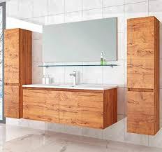 david badmöbel set 120 cm eiche badezimmermöbel hochschrank waschtisch spiegel 6teilig