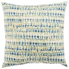 Blue White Abstract Perron Fresco Indoor Outdoor Throw Pillow Design By Jaipur