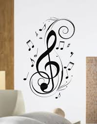 Custom Listing For YarnJam Music Notes Design Decal Sticker Wall Instrument Cool Modern Beautiful Child Boy