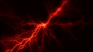 Red Lightnings Storm Animation Background Backdrop Alpha Channel Included Stock Video Footage