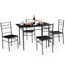 Costway 5 Piece Dining Table Set 4 Chairs Wood Metal Kitchen Breakfast  Furniture Black Jack Daniels Whiskey Barrel Table With 4 Stave Chairs And Metal Footrest Ask For Freight Quote Goplus 5 Pcs Black Ding Room Set Modern Wooden Steel Frame Home Kitchen Fniture Hw54791 30 Round Silver Inoutdoor Cafe 0075modern White High Gloss 2 Outdoor Table Chairs Metal Cafe Two Stock Photo 70199 Alamy Stainless 6 Arctic I Crosley Kaplan 4piece Patio Seating Oatmeal Cushion Loveseat 2chairs Coffee Rustic And Pieces Glass Tabletop Diy Patterns Pads Brown Tufted Target Grey