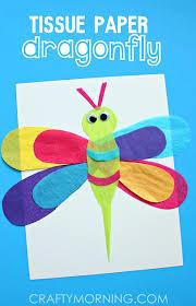 Tissue Paper Dragonfly Kids Craft Idea