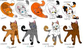 warrior cat names warrior cats adoptamables by sparkytail63 on deviantart