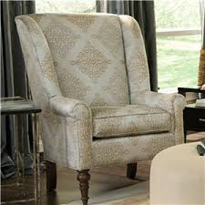 Craftmaster Sofa With Cognac Legs In Tolliver by Craftmaster Accent Chairs Traditional Chair With Modified Wing