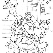 Stylish And Peaceful Jesus Is Born Coloring Pages Nativity Page