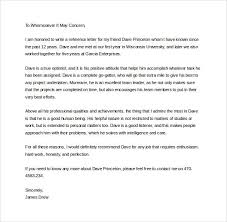 Sample Personal Letter of Re mendation 16 Download Free