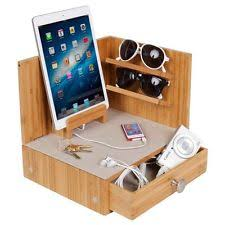 Mens Dresser Valet With Charger by Axeton Electronic Valet Charging Caddy Station Wooden Drawer