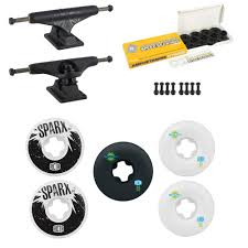 100 Buck Skate Trucks Independent Board Black Ricta Sparx Wheels Ceramic