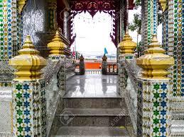 100 Banglamung Thai Cathedral Glass At Wat Prachum Kongka Chonburi Stock