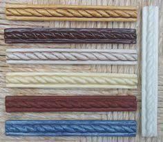 ceramic tile handmade 3 4 x6 braid listello border tile