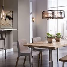Dining Room Lighting Fixtures Ideas Drum Black Stainless Steel Floor Lamp Rectangular White Wooden Kitchen Cabinet