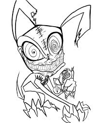 Really Scary Monster Coloring Pages