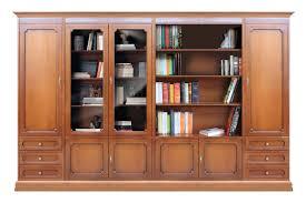 anbauwand aus holz im stil für wohnzimmer büro einrichtung klassisch bücherregal und vitrine breite 3 m einfache montage