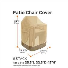 Patio Chair Replacement Slings Amazon by Amazon Com Classic Accessories Veranda Stackable Chairs Cover