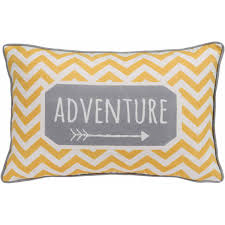 Decorative Couch Pillows Walmart by Better Homes And Gardens Chevron Adventure Yellow And Grey
