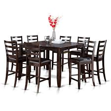 Krull 9 Piece Counter Height Extendable Solid Wood Dining Set Kitchen Design Table Set High Top Ding Room Five Piece Bar Height Ideas Mix Match 9 Counter 26 Sets Big And Small With Bench Seating 2018 Progressive Fniture Willow Rectangular Tucker Valebeck Brown Top Beautiful Cool Merlot Marble Palate White 58 A America Bri British Have To Have It Jofran Bakers Cherry Dion 5pc
