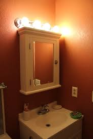 Pottery Barn Bathroom Wall Lights by White Medicine Cabinet With Mirror And Lights Roselawnlutheran