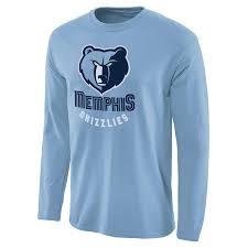 Men s Light Blue Memphis Grizzlies Primary Logo Long Sleeve T