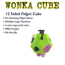 WONKA 12 Sided Fidget Cube Promotional Product