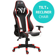 RayGar RG-MAX Pro Reclining Sports Racing Gaming Office Desk PC Faux  Leather Chair (Red), PU Metal/Plastic, One Size Httpswwwmpchairscom Daily Httpswwwmpchairs Im Dx Racer Iron Gaming Chair Nobel Dxracer Wide Rood Racing Series Cventional Strong Mesh And Pu Leather Rw106 Stylish Race Car Office Furnithom Buy The Ohwy0n Black Pvc Httpswwwesporthairscom Httpswwwesportschairs Loctek Yz101 Ergonomic With Backrest Shell Screen Lens Crystal Clear Full Housing Case Cover Dx Racer Siege Noirvert Ohwy0ne Amazoncouk