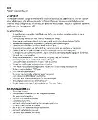 Best Objective For Fast Food Resume Example Manager