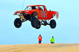 Huge Truck Jump At Silver Lake Sand Dunes - YouTube