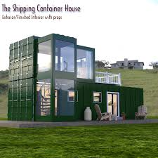 100 Shipping Container Model The House For DAZ Studio 3D S