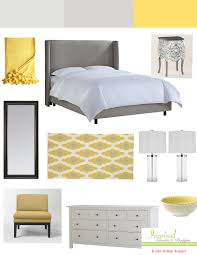 Bedroom Ideas With Grey And Yellow