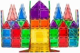 Valtech Magna Tiles Clear Colours 100 Pack by Daily Cheapskate The Best Deals On Magnetic Tile Building Sets