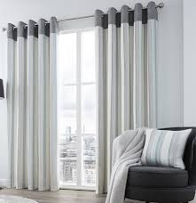 Vertical Striped Window Curtains by Riddle Lined Eyelet Curtains Distressed Vertical Stripe Ready Made