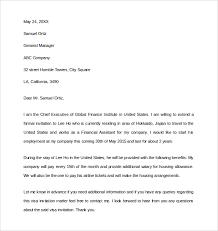 Sample Invitation Letter for US Visa 9 Download Free Documents