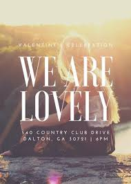 We Are Lovely Valentines Event Flyer