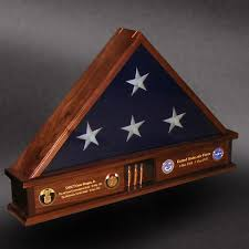 Greg Seitz Woodworking Offers Custom Wood Shadow Boxes Flag Military Display CaseDisplay