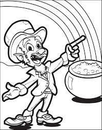 Printable Leprechaun With A Pot Of Gold Coloring Page